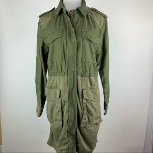 GAP Green Two Tone Field Jacket Small